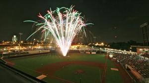 fireworks at ballpark